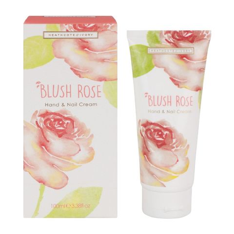 Blush Rose Hand & Nail Cream 100ml Heathcote & Ivory